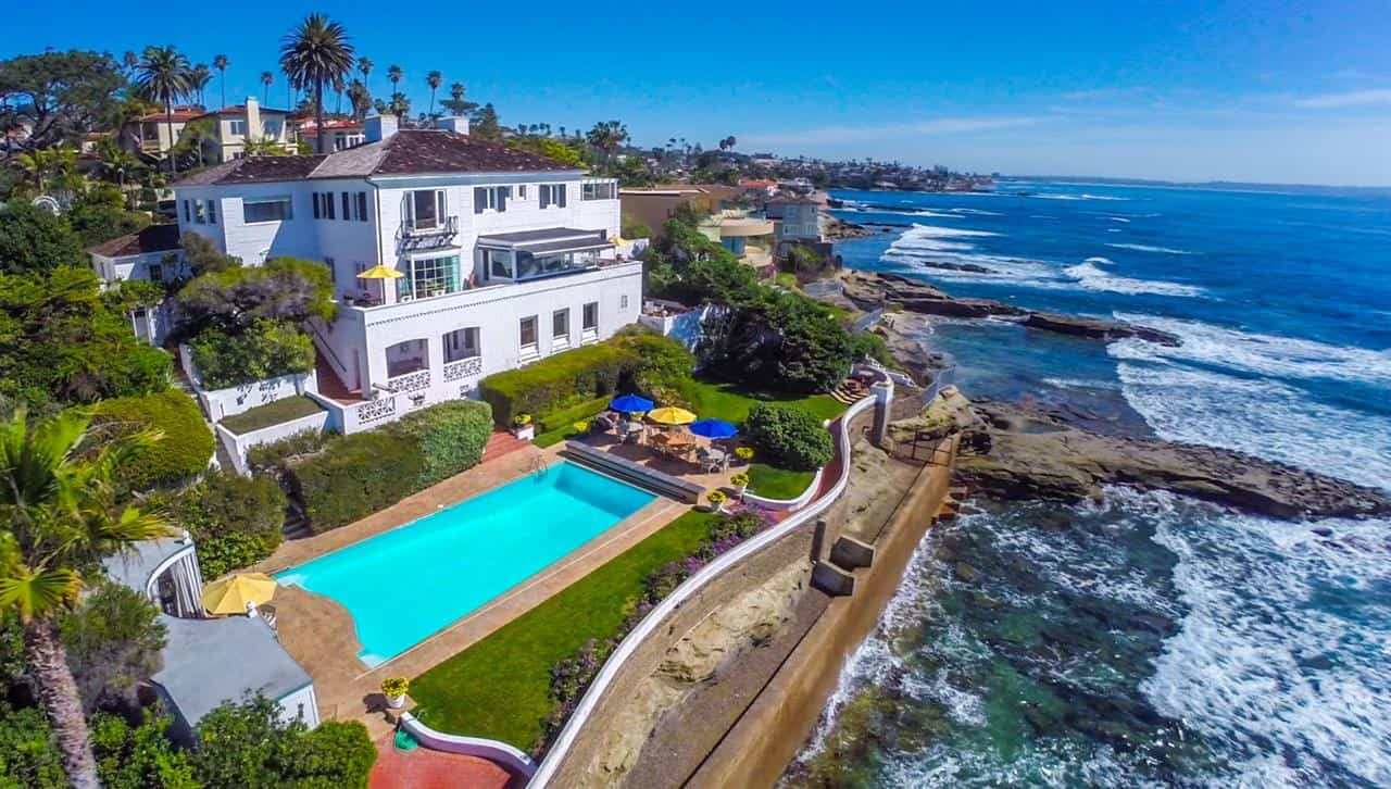 La Jolla hard money lender - beachfront mansion